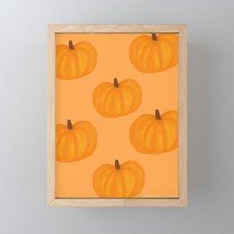 Pumpkin Fall Halloween Pattern  Framed Mini Art Print