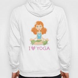 Cute Yoga Girl Sitting in Lotus Pose Hoody