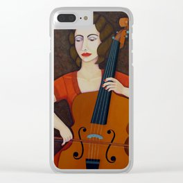 Guilhermina Suggia - Woman cellist of fire Clear iPhone Case