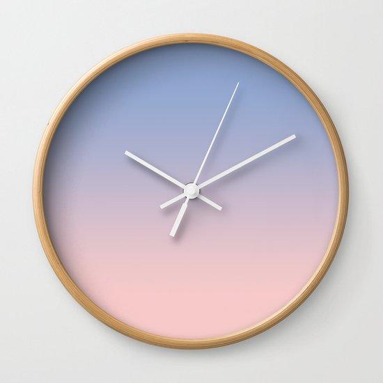 Pantone Rose Quartz and Serenity Ombre Wall Clock