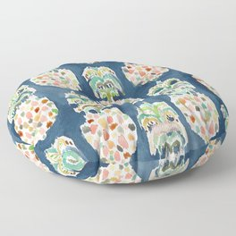 PINEAPP FOR THAT Colorful Pineapples Floor Pillow