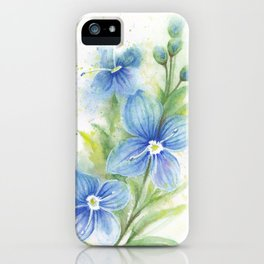 Veronica, Floral Watercolor iPhone Case