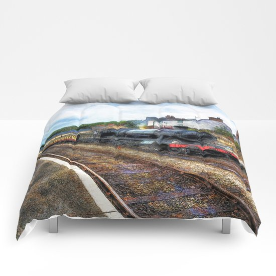 Steam Train Journey Comforters