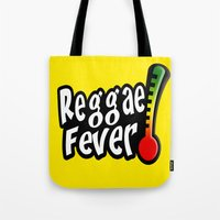 reggae Tote Bags featuring Reggae Fever by Marvin Porcher