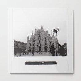 Milan in Black & White Metal Print