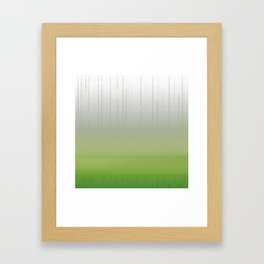 Sombra Skin Glitch Pattern Framed Art Print