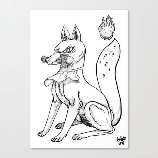Kitsune x Kendama Canvas Print