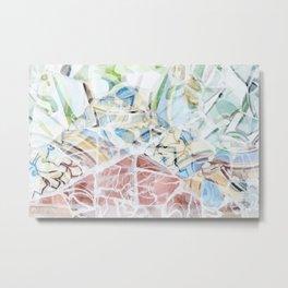 Mosaic of Barcelona XVI Metal Print