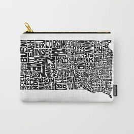 Typographic South Dakota Carry-All Pouch