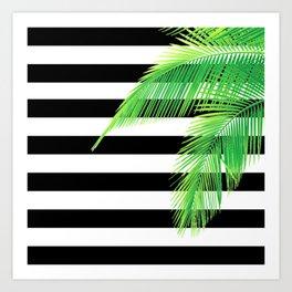 Simply Tropical Stripes Art Print