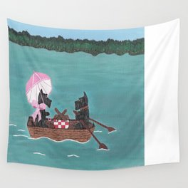 Sunday Afternoon - Scotties-Scottish Terriers Wall Tapestry