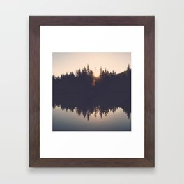 Wooded Lake Reflection  - Nature Photography Framed Art Print