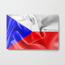 Czech Republic Flag Metal Print