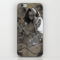 hiphop iPhone & iPod Skins featuring Holy Mother of HipHop Blessed Be Thy Beats. by Kamau Mshale
