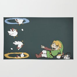Thinking With Chickens Rug