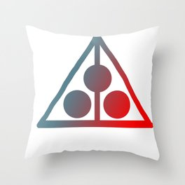 Trifecta Pyramid- Designed by: Avi Isaac Throw Pillow