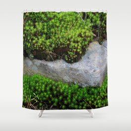 Vibrant Moss Shower Curtain