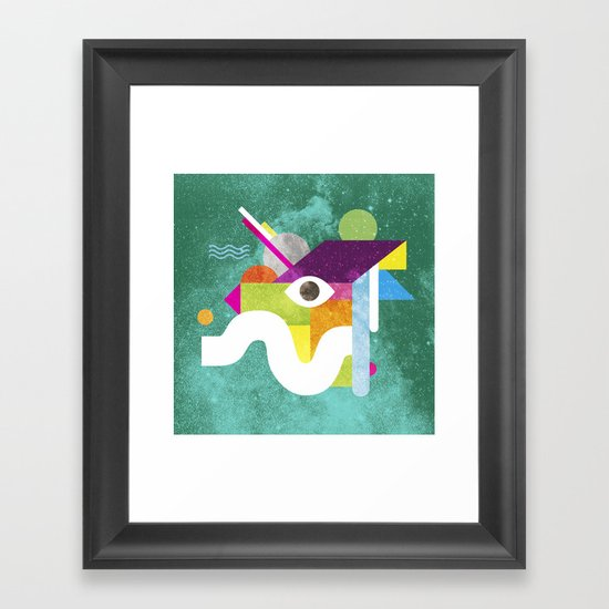 Mythical Float Rate. Framed Art Print
