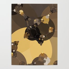 halsey - abstract warm earth tones brown butter yellow tan and black Poster