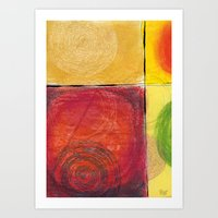 kandinsky Art Prints featuring Colourful pastel work kandinsky inspired by Easyposters
