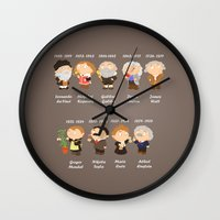 science Wall Clocks featuring science by Alapapaju