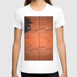 Tennis court orange T-shirt