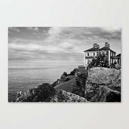Home on the Irish Coast in Howth Ireland Canvas Print