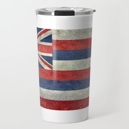 The State flag of Hawaii - Vintage version Travel Mug