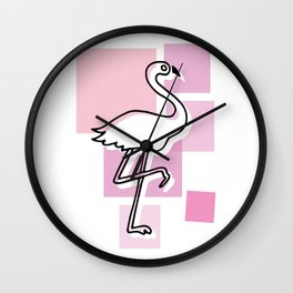 flamingo go Wall Clock
