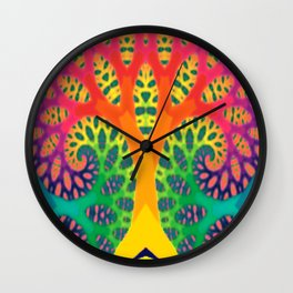 A Tree Dreaming In Color Wall Clock