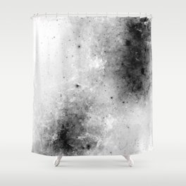 Creeping Black - Abstract black and white Shower Curtain