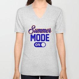 Summer Mode ON bo Unisex V-Neck