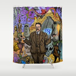 Charles Fort - Fortean Shower Curtain