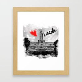 I love Lincoln Framed Art Print