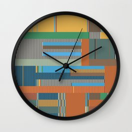 Scandinavian Moon (Nature Trail Colours) Wall Clock