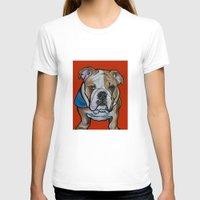 english bulldog T-shirts featuring Johnny the English Bulldog by Pawblo Picasso