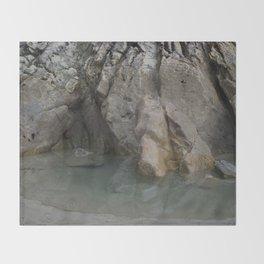 Natural Ocean Rock Pool Reflection Throw Blanket