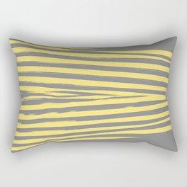 Yellow & Gray Stripes Rectangular Pillow