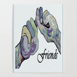 ASL Friends Denim Coloring Poster