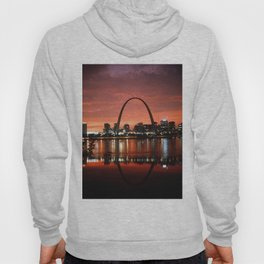 The St. Louis Arch at Dusk Photograph Hoody