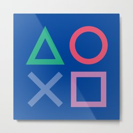 Playstation poster, this is for the players, videogame illustration , Play station, videogames art Metal Print