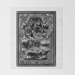 THE DEVIL of Tarot Cats Throw Blanket