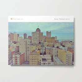 Pantone: San Francisco Metal Print