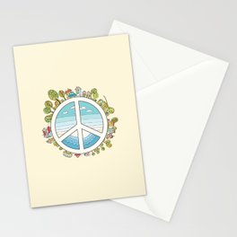 peaceful bright Pacific planet Stationery Cards