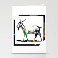 goat Stationery Cards featuring Goat by LoRo  Art & Pictures