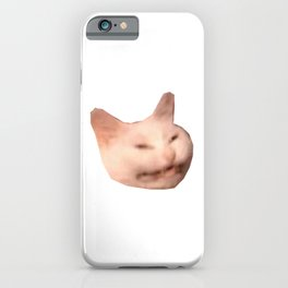 smiling grinning cat meme iPhone Case