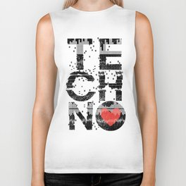 Love Techno Music Biker Tank
