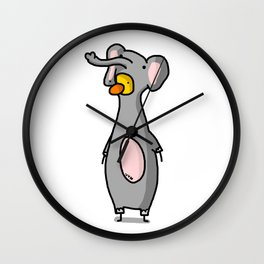 Elephant Costume Wall Clock