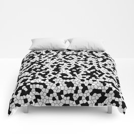 Mosaic pattern white and Black Comforters