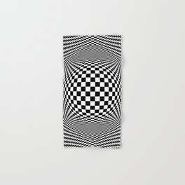 Optical Illusion Checkers Chequeres  Hand & Bath Towel